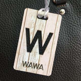 Custom Personalised Luggage Tag - Rustic Woody