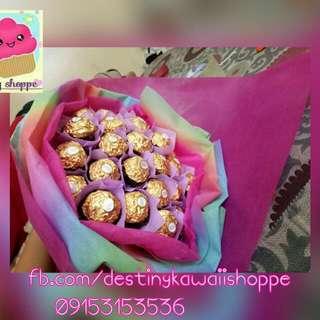 Ferrero & flower bouquet