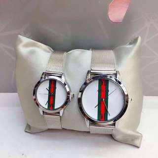 Gucci Couples Watch White Dial