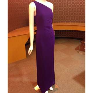 Robert Rodriguez One shoulder slinky draped and beaded Jessica Rabbit  gown