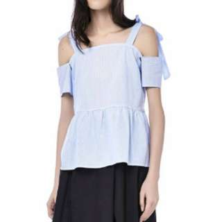 THE EDITOR'S MARKET Junia Cold-Shoulder Top