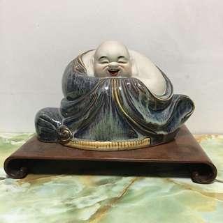Porcelain Laughing Buddha