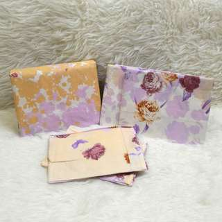 Gutnite Sprei King 180x200. ROSE & SILUETS -PEACH & PURPLE