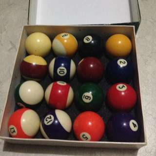 For sale spalding billiard ball. Bnew never been use. 2.5k nlng po