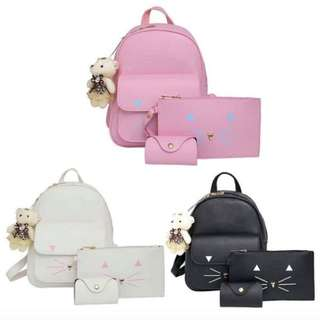 4 in 1 Meow Backpack Set