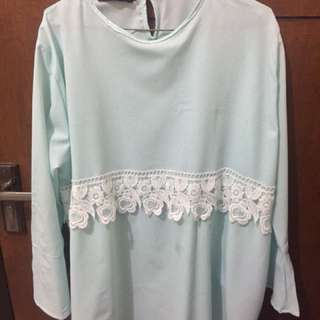 BRAND NEW Mint Lace Blouse
