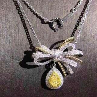 黃鑽石頸鏈