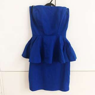 Zara Peplum Dress Small