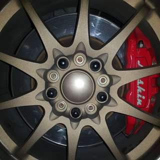 Nashin 4 pot big brake kit lancer ex