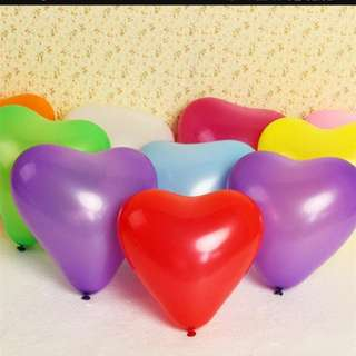 5 inch latex heart balloon