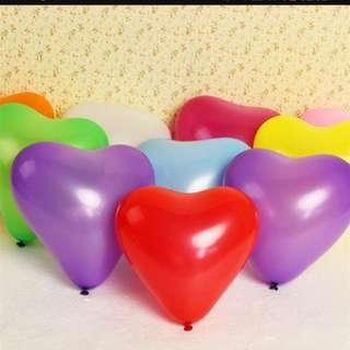 🚚 5 inch latex heart balloon