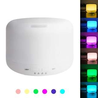 400ml ULTRASONIC AROMA DIFFUSER, MIST AIR HUMIDIFIER WITH 7 COLOR CHANGING LED LIGHTS/ AUTO SHUT OFF/ 4 TIMER SETTING