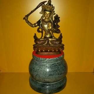 Tibetan Manjushri bodhisattva statue 藏传文殊菩萨像