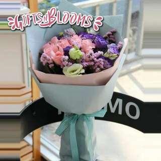 Valentine Bouquet Anniversary Fresh Flower Gift V57 - CJGJTH