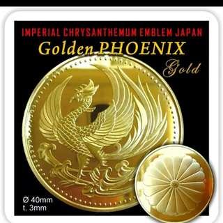 Koin  commemorative golden pheonix