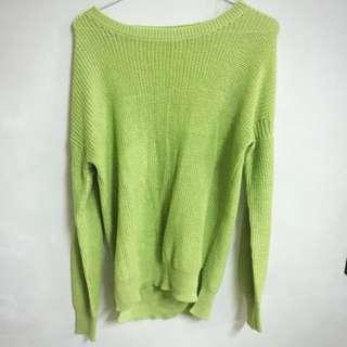 綠色針織上衣 #冬季衣櫃出清 #大掃除五折