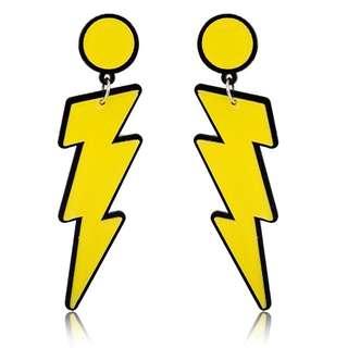 Lightning Acrylic Drop Earrings