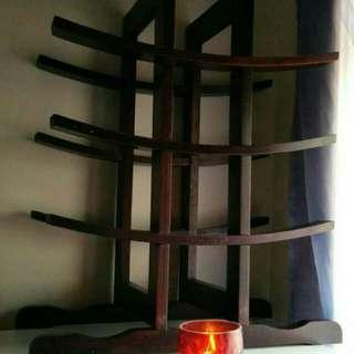 Cool wine rack*wood*