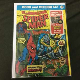 Amazing Spider-Man PR10 Power Records Marvel Comics Book Stan Lee Movie Avengers Spiderman
