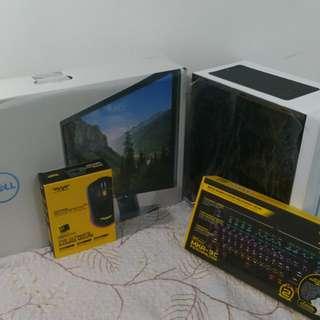 Gaming PC set! Monitor+Cpu+gaming keyboard&mouse