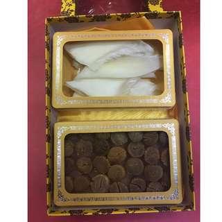 金勾翅(約4兩)+北海道元貝(約半斤)禮盒裝