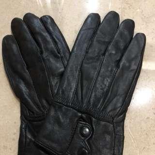 Leather women gloves winter sarung tangan wanita