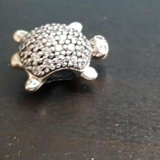 Authentic Pandora sea turtle 925s ale clear cz