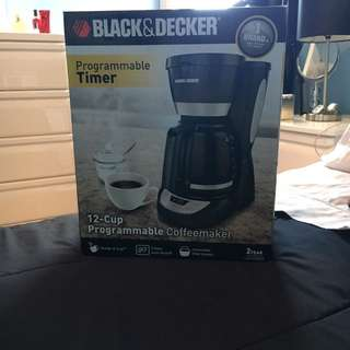 Black & Decked coffee maker