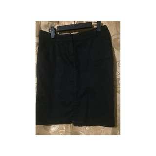 Mango black skirt