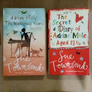 The Secret Diary of Adrian Mole aged 13 3/4 and Adrian Mole The Wilderness Years by Sue Townsend