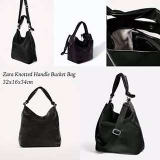 knotted handle bucket bag original by zara