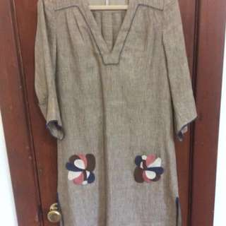 *PRICEDROP* MAX AZRIA Embroidered Linen Dress XS