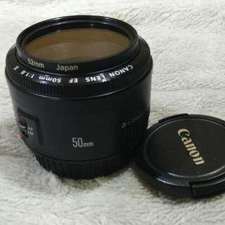 Canon 50mm F 1.8 len.