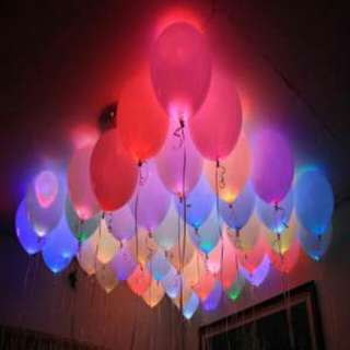 LED up balloons with mixed color party lights