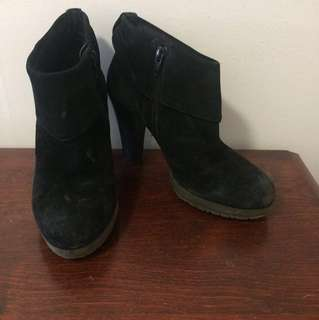 Nine West Black Suede Booties, 7