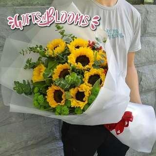Valentine Bouquet Anniversary Fresh Flower Gift V68 - ENPOTI