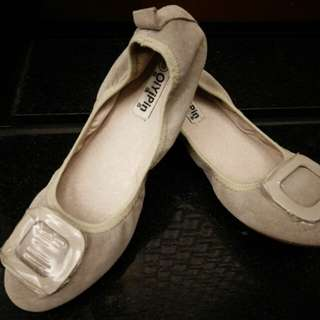 換物 平底鞋豆豆鞋娃娃鞋包鞋涼鞋拖鞋夏日(39