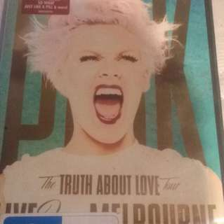 P!nk The Truth About Love Tour DVD Live in Melbourne