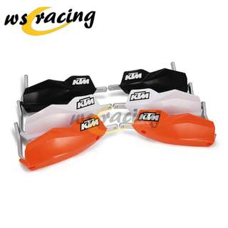 Universal KTM handguard protection guard black white orange