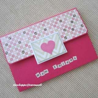 Pink Birthday Long Wallet Scrapbook Card