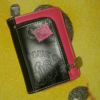 Dompet blue cross black and pink