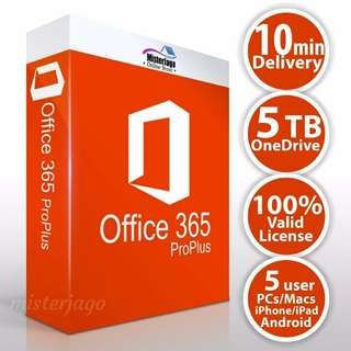 Office 365 ProPlus Office 365 ProPlus 5 PC/Mac/Android/iPhone/iPad 5TB OneDrive