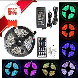 Promo! Full set 5m rgb multi colour led light strip