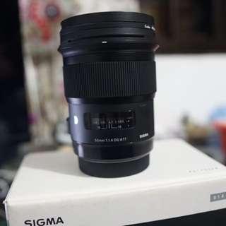 Sigma 50mm f1.4 art Canon mount
