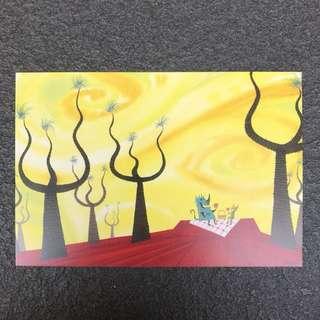 Pixar Postcard Monsters Inc Postcard