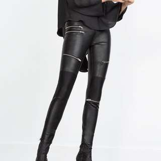 Brand New ZARA Faux Leather Pants Size 10