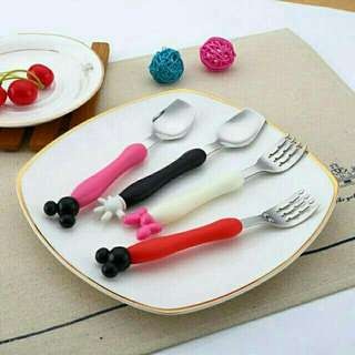 MICKEY MOUSE & MINNIE MOUSE CUTLERY SET FOR KIDS