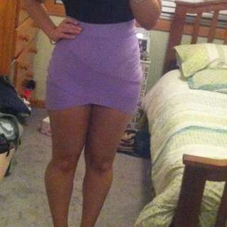 Purple bandage skirt