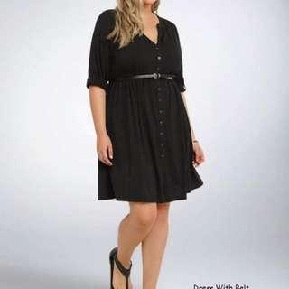 Dress with belt fits upto XL