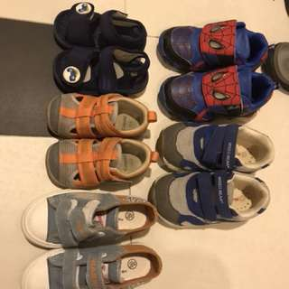 Boy Shoes, all 5 pairs